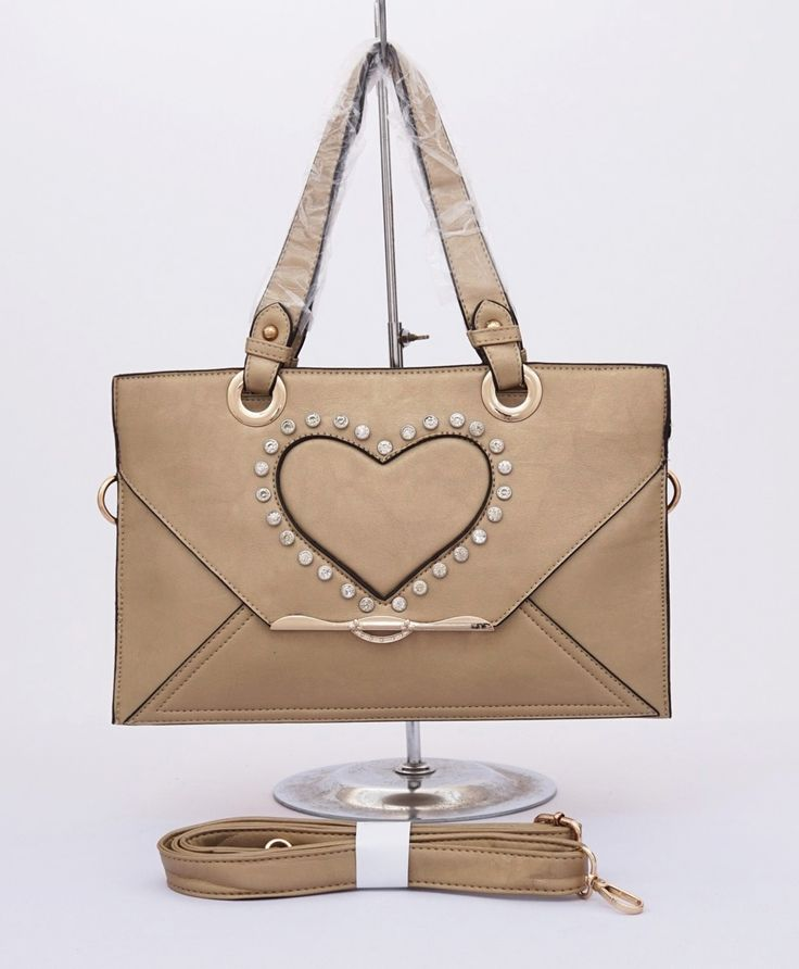 Tas Love Spring Series with diamond. Elegan cantik. Ada tali bahu dan selempang. Warna gold. Uk 35x24