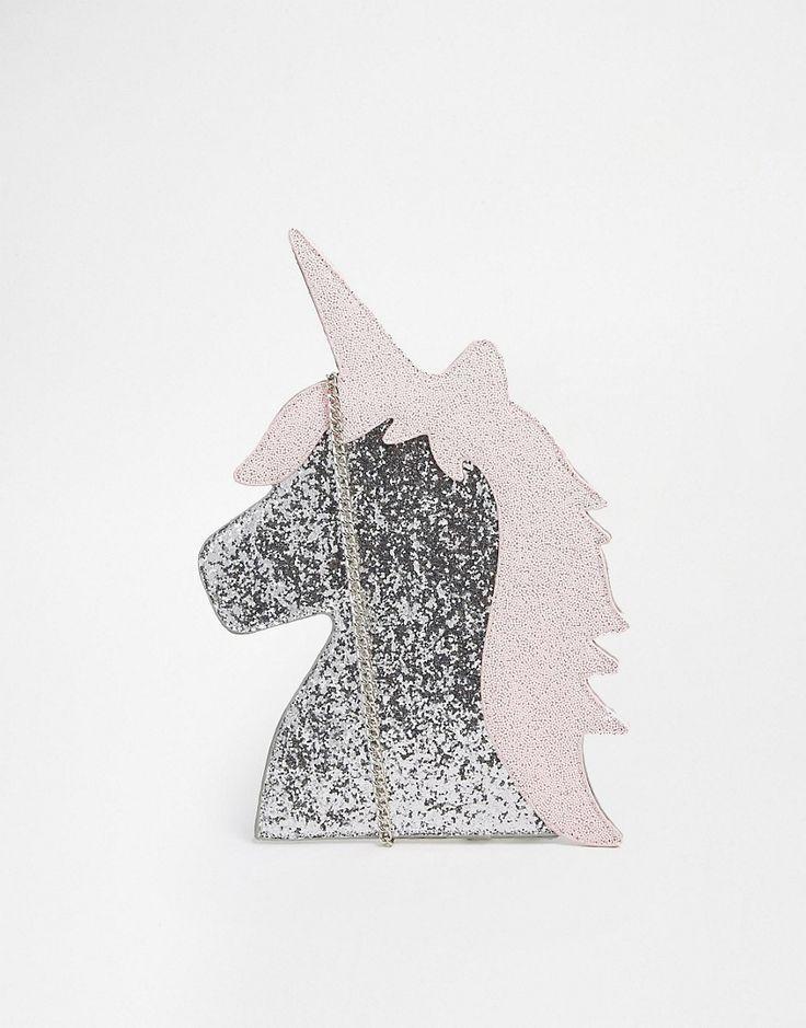 Este bolso de unicornio ¡nos encanta! ... Arre unicornio!!!   #bolso #Asos #unicornio #arre #moda #estilo #plateado #rosa