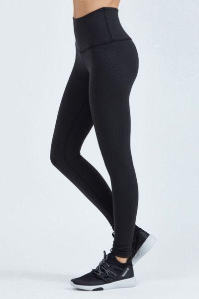 Celine Black Super High Waisted Compression Tights 2