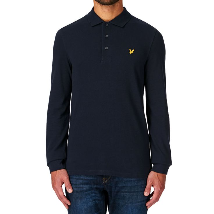Lyle & Scott Polo Shirts - Lyle & Scott Ls Plain Polo Shirt - New Navy