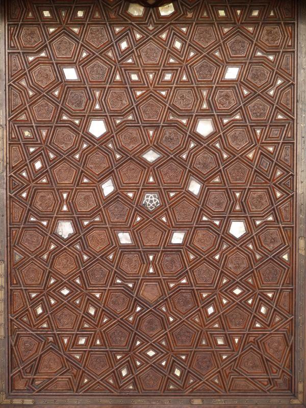Istanbul, Turkey: Rustem Pasha Camii (Mosque): inlaid door panel (1560, architect Mimar Sinan)