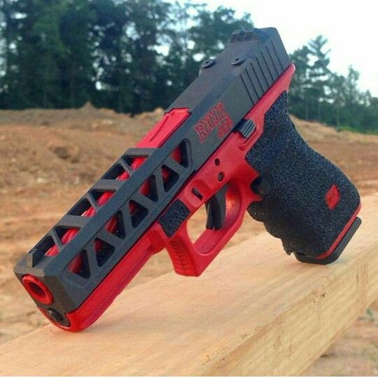 Custom Glock (black & red)