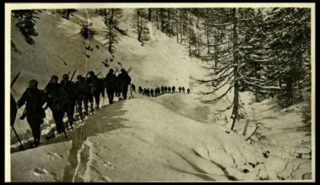 Alpini skiatori in Carnia