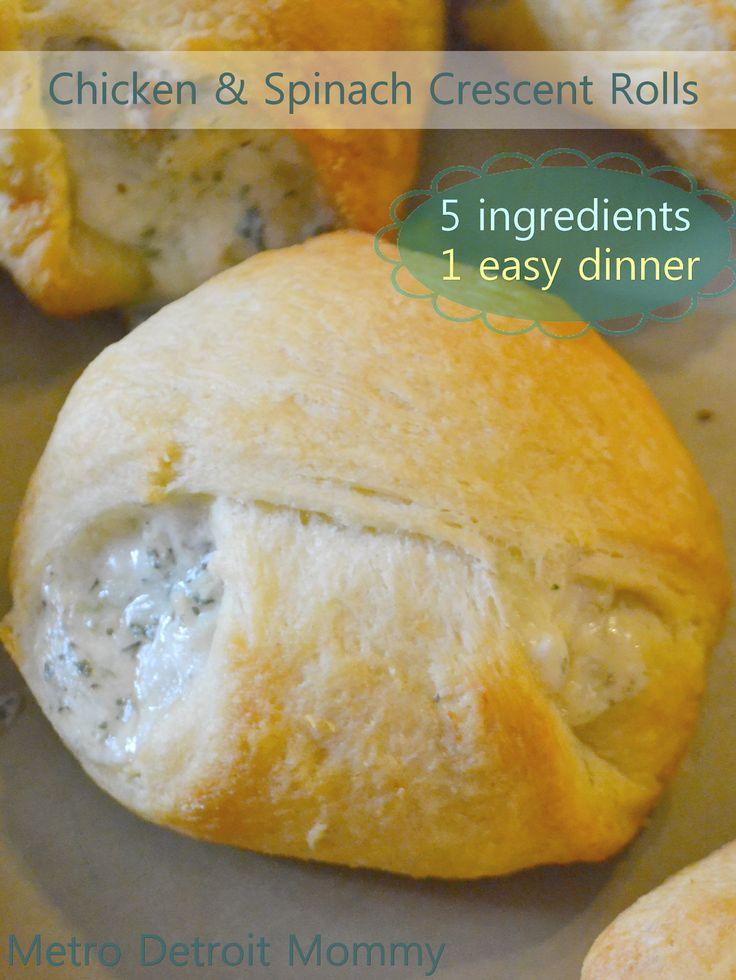 Metro Detroit Mommy: Tastefully Simple Chicken & Spinach Crescent Rolls