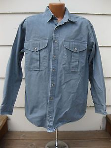 VTG FILSON Cotton Shelter Cloth button up work shirt outdoors 452 usa made in Clothing, Shoes & Accessories, Men's Clothing, Casual Shirts | eBay