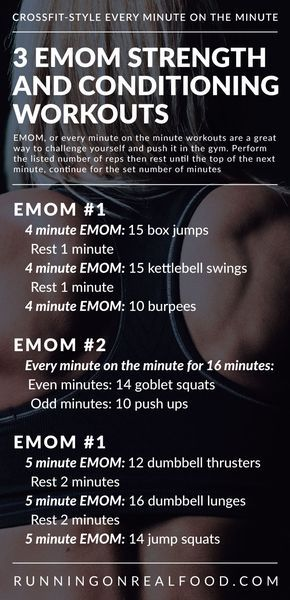 3 CrossFit EMOM Workouts for Conditioning and Total Body Strength