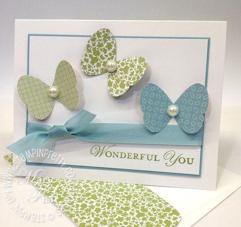 Twitterpated DSP: Beautiful Butterflies, Pretty Butterflies, Soft Butterflies, Beautiful Cards, Butterfly Cards, Butterflies Punch, Butterflies Cards, Simple Butterflies, 3 D Butterflies