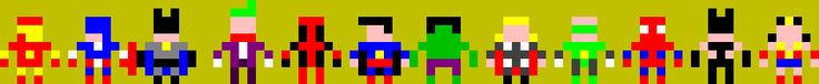 pixelart, marvel, dc comix, heroes, avengers
