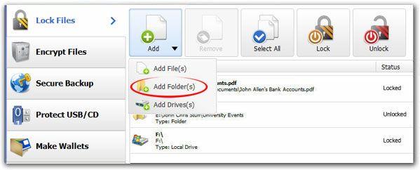How To Password Protect A Folder in Folder Lock http://www.newsoftwares.net/folderlock/howto/password-protect-a-folder