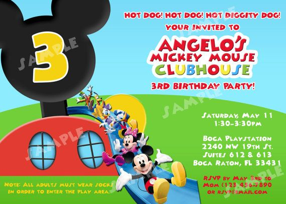 22 best Mickey Mouse Clubhouse Party images on Pinterest Mickey - mickey mouse invitation template