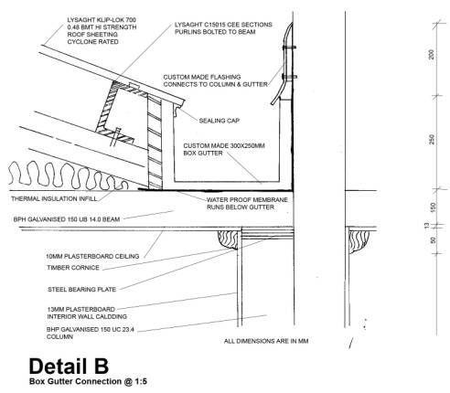 Concealed Gutter Details Google Search Construcao Metalica Casas Construcoes Metalicas Telhados