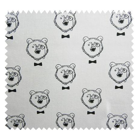Tissu Imprimé Topof Noir Blanc - Tissus des Ursules