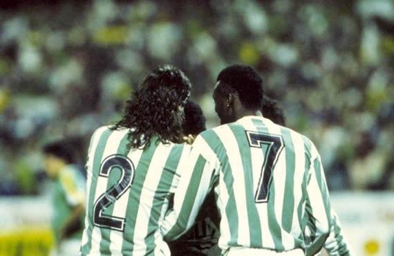 """Andrés Escobar y Albeiro """"El Palomo"""" Usuriaga, dos grandes del título de la Copa Libertadores de 1989."""