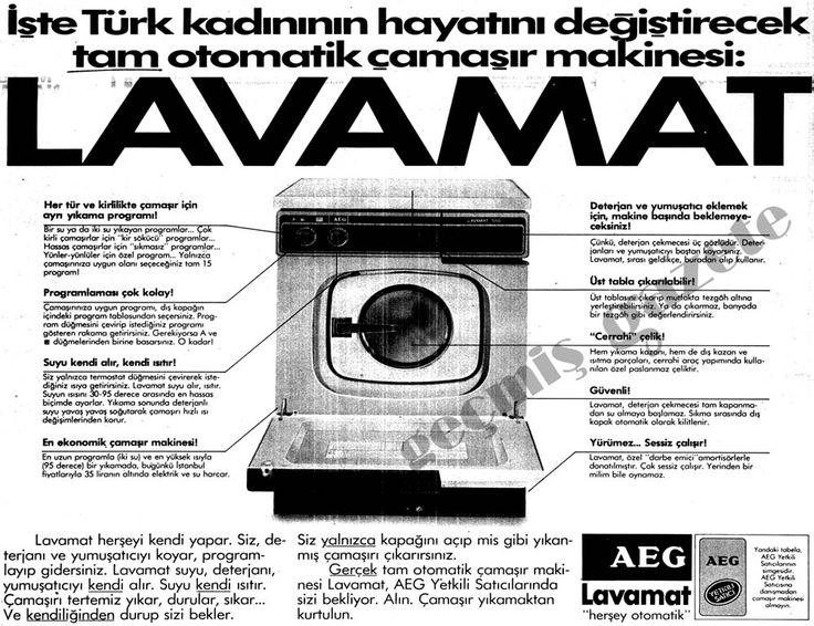 03 Mart 1984 Hürriyet -> (1984) İşte Türk kadınının hayatını değiştirecek tam otomatik çamaşır makinesi: Lavamat (bu bir ilandır)