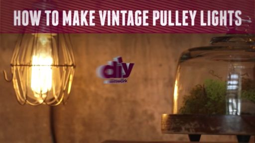 How to Make Vintage Pulley Lights