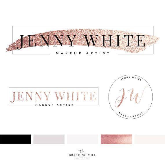 Branding Kit Template Makeup Logo Design Makeup Artist Logo
