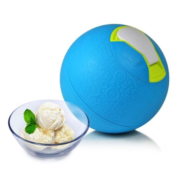 Simple and smart, the SoftShell Soft Shell Ice Cream Ball allows you to quickly make ice cream by playing a game with your little ones. After filling the interior of the ball, lock in the ingredients and simply roll back and forth with your little one and very quickly have perfectly churned ice cream. Take the ball to the park and make your ice cream in the middle of a sunny summer afternoon.