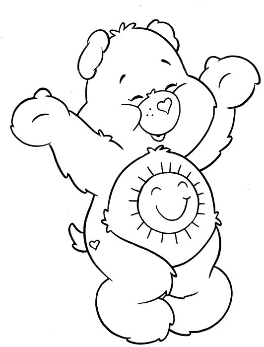 coloring pages of grumpy bear - photo#26