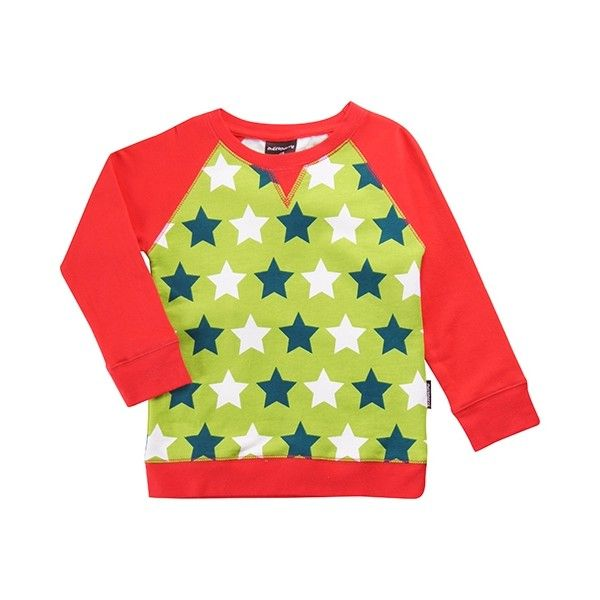 Maxomorra sweater Stars Green - Lillefant