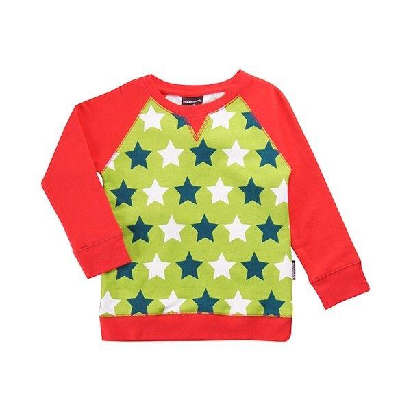 Maxomorra sweater Stars Green - Lillefant