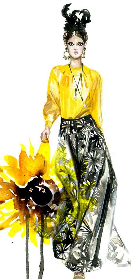 fashion illustration #fashion #illustration #fashionillustration #yellow