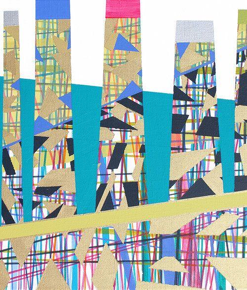 Original acrylic painting by Lucie Jirku, 40x40cm www.studiocodeco.cz
