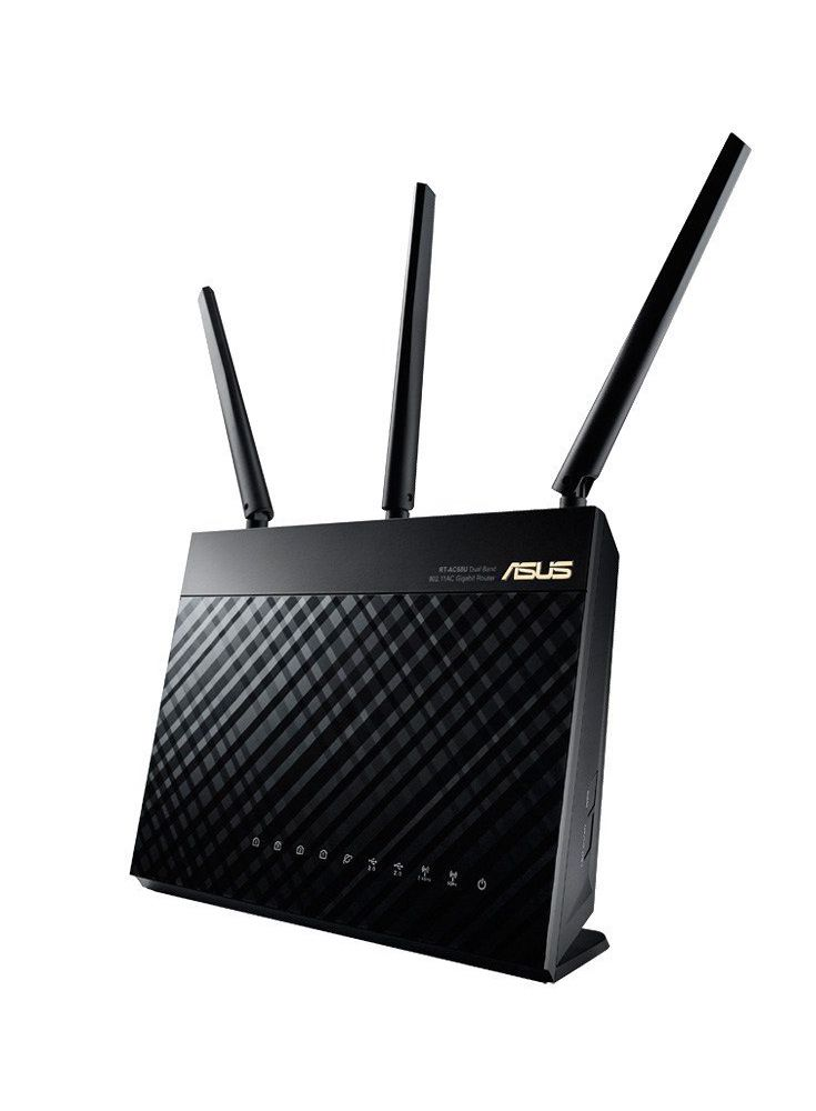 ASUS Dual-band Wireless-AC1900 Gigabit Router, Black ( RT-AC68U) - The world's fastest Wi-Fi router, with combined dual-band data rates of 1900 Mbps for three times faster performance than 802.11n routers.