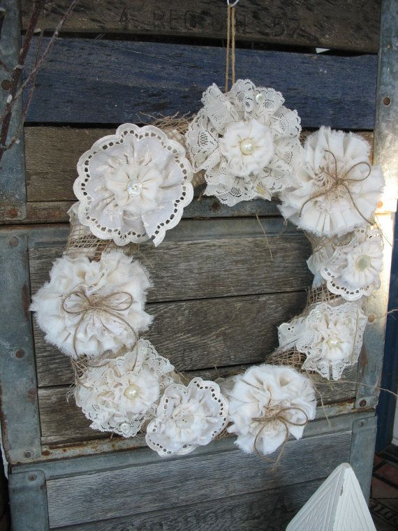 Vintage Lace Wreath by ShabbyChicRose on ETSY: