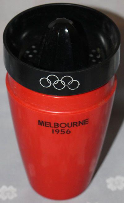 Reamer on 1956 Melbourne Olympics commemorative juicer