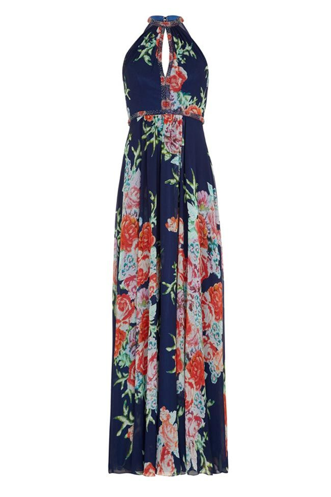 This floral maxi dress (£385) is perfect for a stylish wedding guest who wants to look her best at a summer wedding