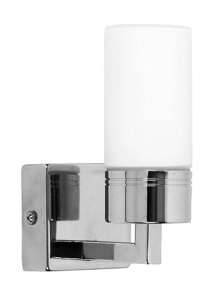 Lexo - nástenné kúpeľňové svietidlo -  64mm - vrátane 1x28W