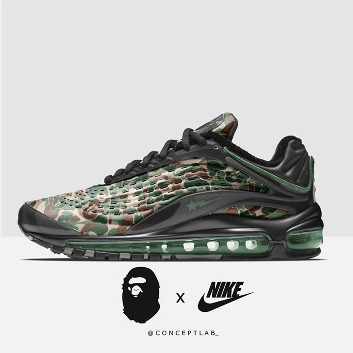 Would you cop the BAPE x Nike Air Max Deluxe  CREDIT IG  conceptlab   Sneakers 36090fc4d310
