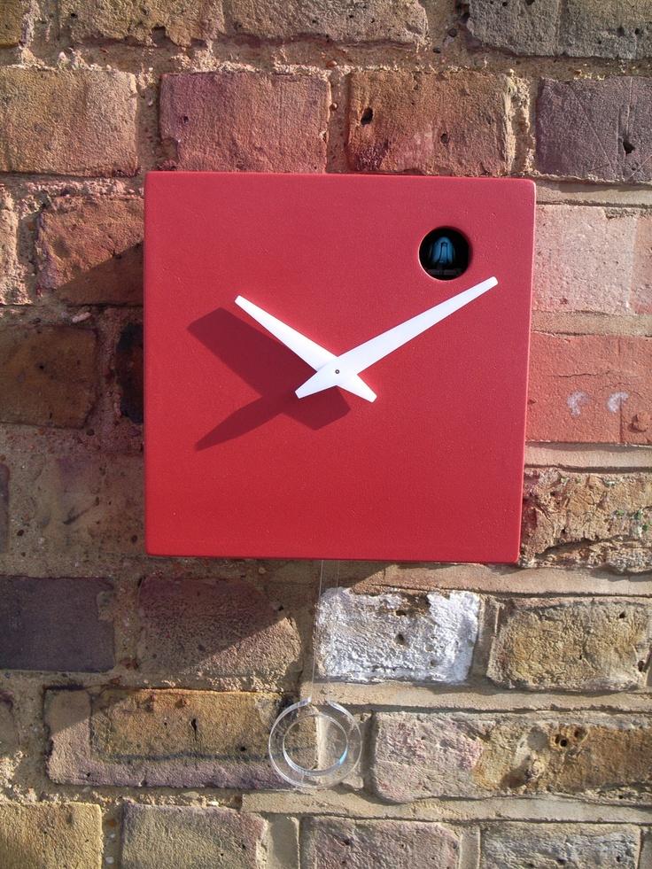 Red cuckoo clock cuckoo clock pinterest cuckoo clocks and clocks - Contemporary cuckoo clock ...