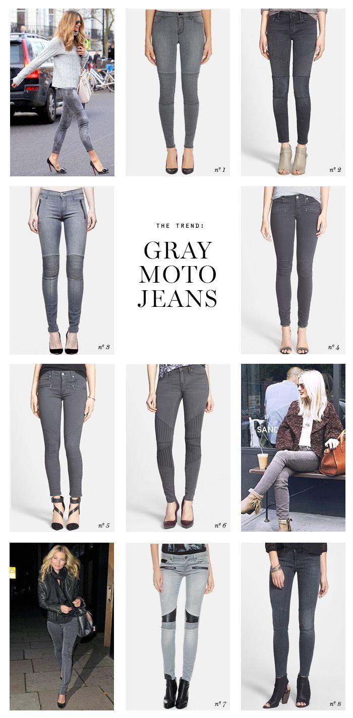 THE TREND Gray Moto Jeans | Erika Brechtel | Brand Stylist