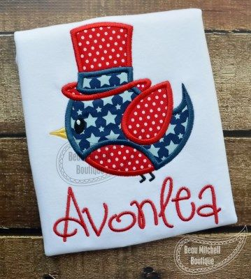 4th of July Bird | Beau Mitchell Boutique