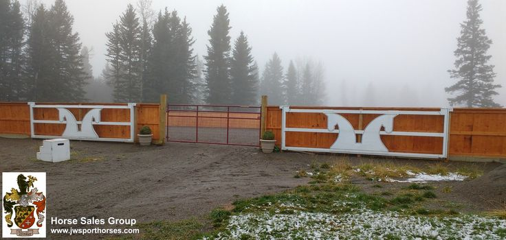 Entrance gates to outdoor sand ring