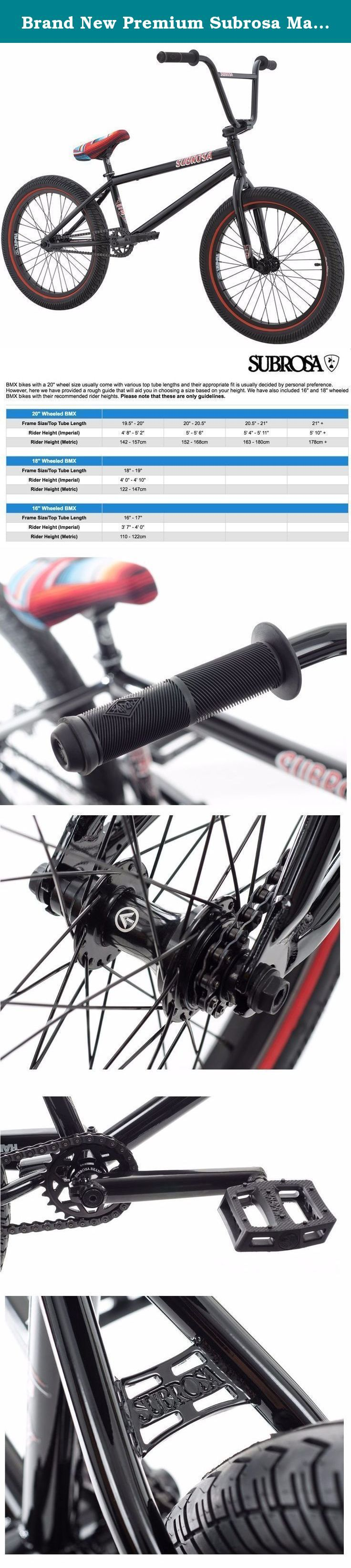 "Brand New Premium Subrosa Malum 20"" BMX Bike 2016 Hot Rod Gloss Black. Subrosa Malum BMX Bike The Malum line has a distinct theme; Hot Rods vs Rat Rods. Subrosa have paid homage to both styles in the 2016 Malum line to show BMX it doesn't matter what your ride looks like as long as you're having fun. A Hot Rod is typically an old car, rebuilt and customized to perfection just faster, leaner, and meaner than its stock form. A Rat Rod is an old car rebuilt and customized by any means…"