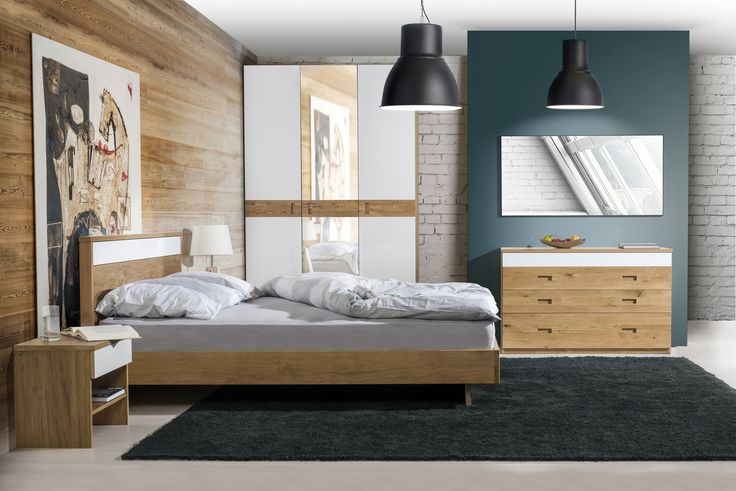 Venice bedroom, the neutral colours make it very cosy. #KloseFurniture #bedroom #woodenfurniture