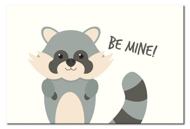 Cuadro Children's Animals: Raccoon Es un ejemplo de los productos que puedes poner en los paredes de habitación de un bebé y le va a acompañr unos años. Una idea excelente de decoración ღ