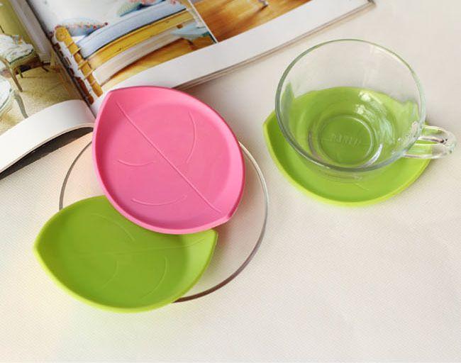Кухонные принадлежности кухонные инструменты силикона кофе подставки лист стол коврик кубок мат чай салфетки для стола, кухонный шкаф ikea