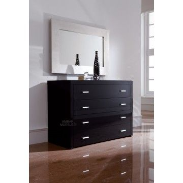 Cómoda Moderna Matisse negro | http://www.ambar-muebles.com/comoda-moderna-matisse-negra.html