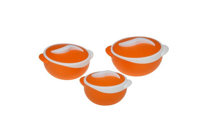 Σετ θερμός φαγητού Parisa orange 500ml,1000ml,1500ml
