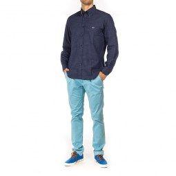 Abbigliamento : CAMICIA HARMONT&BLAINE BLU CON PUNTINI BIANCHI