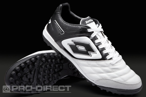 Lotto Football Boots - Lotto Stadio Potenza II 300 TF - Astro Turf - Soccer Cleats - White-Black