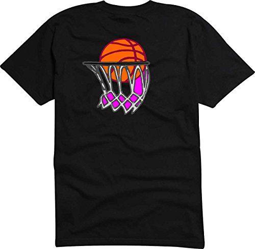 T-Shirt - Camiseta D833 Hombre negro con la impresión en color XXL - diseño Tribal cómico / deportismo gráfico / baloncesto con cesta #regalo #arte #geek #camiseta