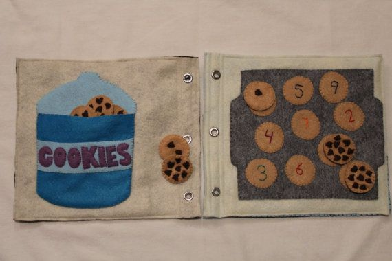 Cookie Counting Quiet Book Page- Children's Felt Book