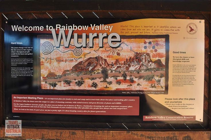 Rainbow Valley's Arrernte name is Wurre (check our link to learn how to say it). http://traveloutbackaustralia.com/rainbow-valley-ultimate-guide.html/