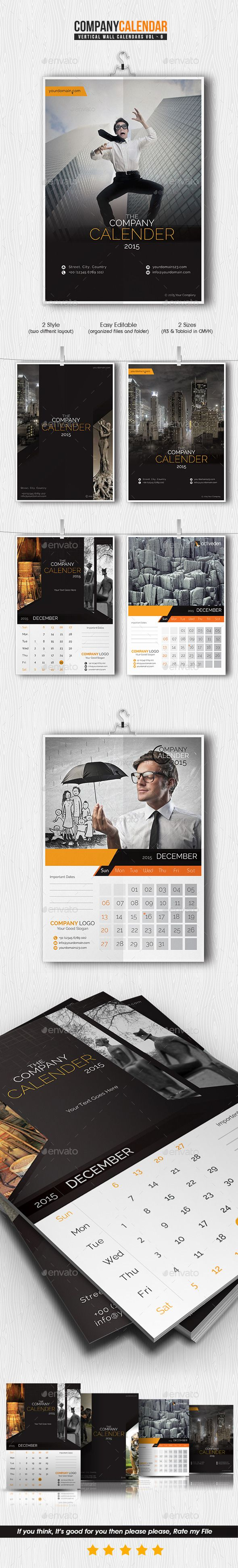 Company Calendar 2015 Template | Buy and Download: http://graphicriver.net/item/company-calendar-2015/9798648?ref=ksioks