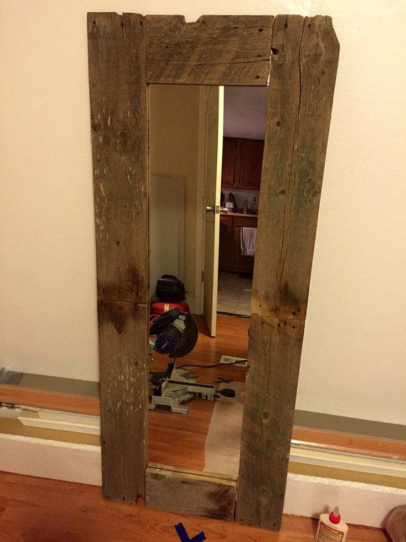 20% OFF TODAY Up-Cycled Rustic Floor Mirror by RuralKountry