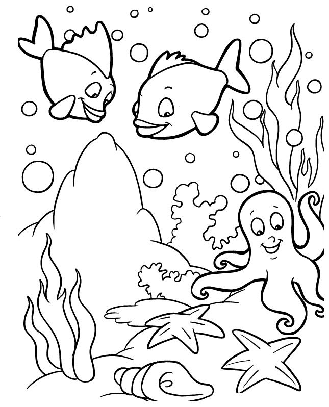 ocean wildlife coloring pages - photo #23